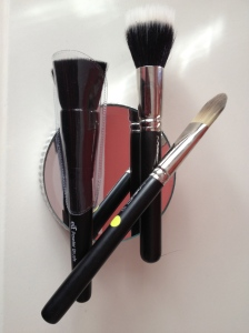 MAC 187 and 190 brushes and ELF Powder Brush