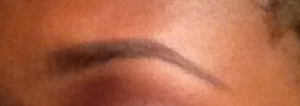 Natural Brow look filled in with pencil