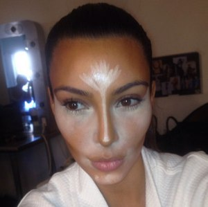 Kim Kardashian Highlighted Face