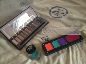 Naked Palette, Maybelline 24 hour colour tattoo and INGLOT lipstick