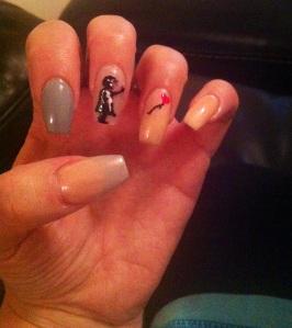 Banky nail art by Charli