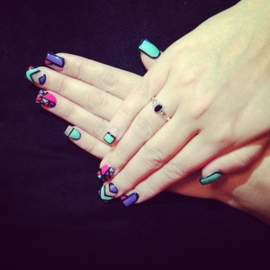 Colourful nails by Charli