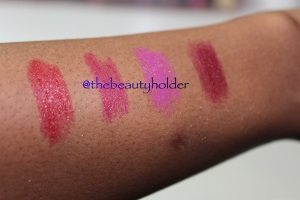 Swatches lip butters