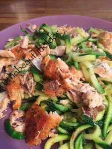 DM's Salmon and Garlic Courgetti